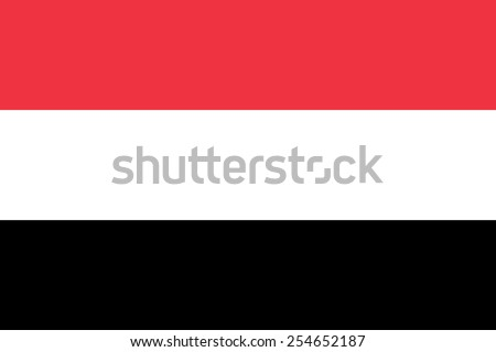 The official flag of the Republic of Yemen in both color and dimensions, - stock vector