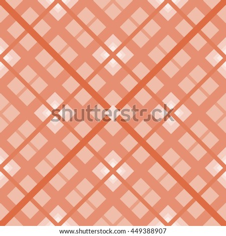 The orange  seamless geometric pattern.Intersecting diagonal stripes.Vector illustration.Can be used for textile,fabric,wrapping paper. - stock vector