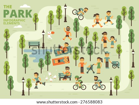 The Park Infographic Elements - stock vector