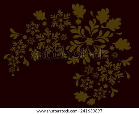 The pattern of the Golden flowers. EPS10 vector illustration. - stock vector