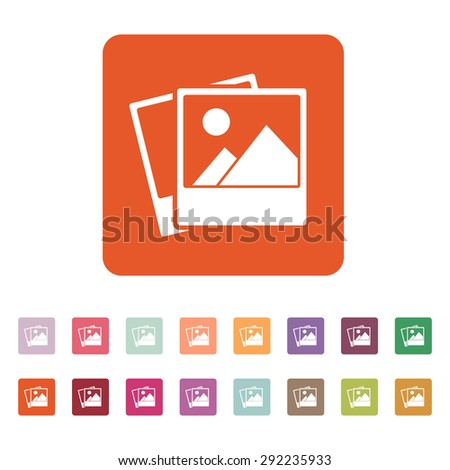 The photo icon. photograph and image, snapshot symbol. Flat Vector ...