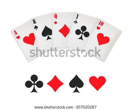 the poker card  - stock vector
