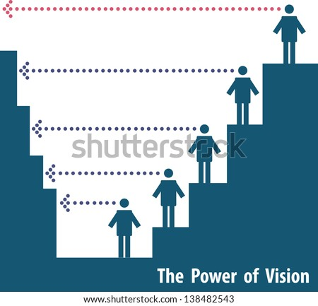 The Power of Vision - stock vector