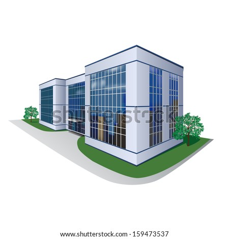 the prospect of building, shopping center, office - stock vector