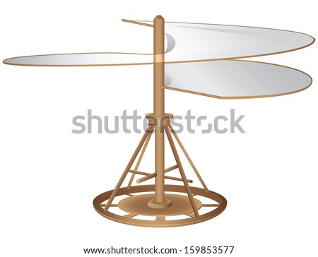 The prototype aircraft type helicopter. Vector illustration. - stock vector