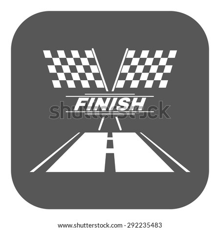 The race flag icon. Finish symbol. Flat Vector illustration. Button - stock vector