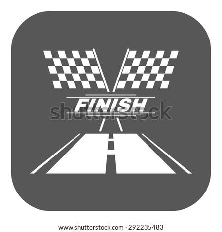 The race flag icon. Finish symbol. Flat Vector illustration. Button - stock vector