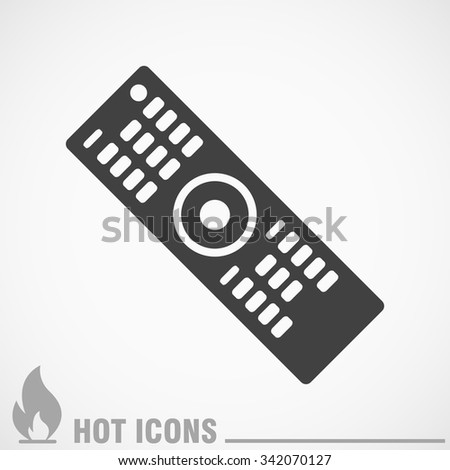 the remote for the TV icon - stock vector