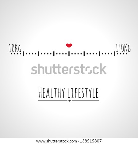 the right weight  - stock vector