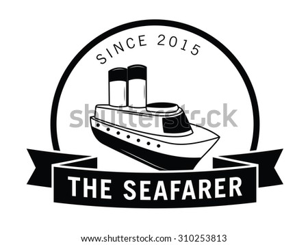 The seafarer label badge - stock vector