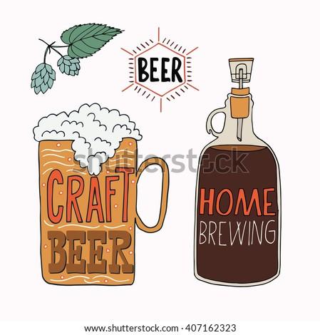 Home brew beer stock illustrations cartoons shutterstock for Home brew craft beer