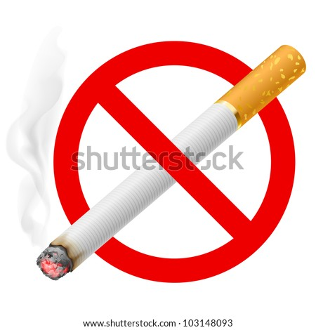 The sign no smoking. Illustration on white background - stock vector