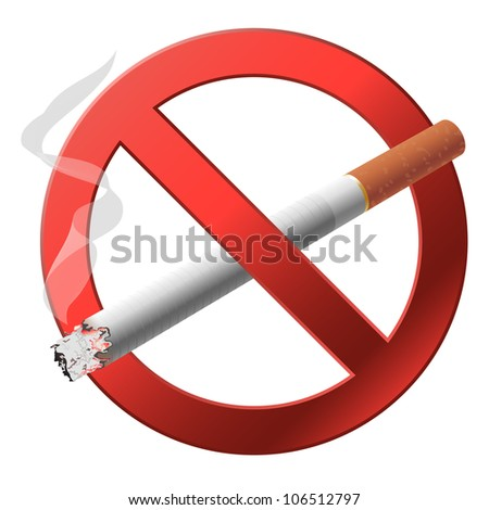 The sign no smoking. Vector illustration on white background - stock vector