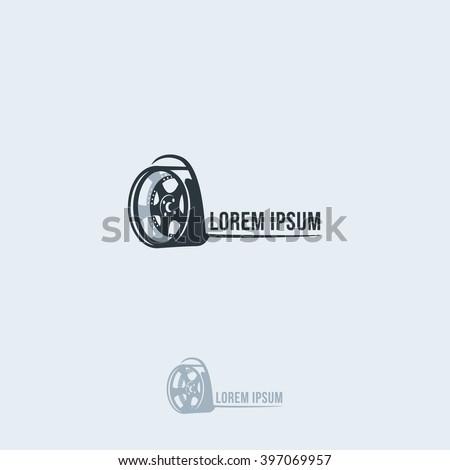The silhouette of the car wheel. Vector logo template. wheel Icon. wheel Art. wheel. wheel Icon. wheel Icon logo. wheel Sign. wheel Icon. wheel Icon design. - stock vector