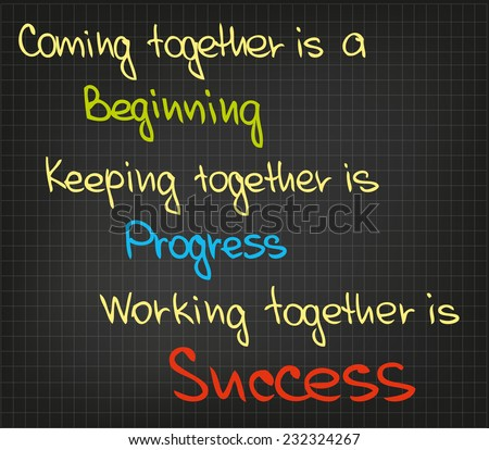 The sketched words and qoutes of getting success - stock vector