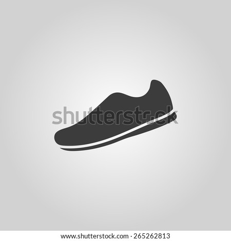 The sneaker icon. Shoes symbol. Flat Vector illustration - stock vector