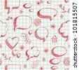 The speech bubbles seamless on yellow sheet of a notebook - stock vector