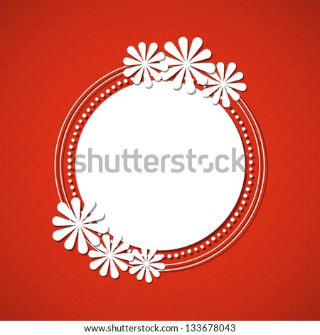 The spring frame with flowers. Vector illustration. - stock vector