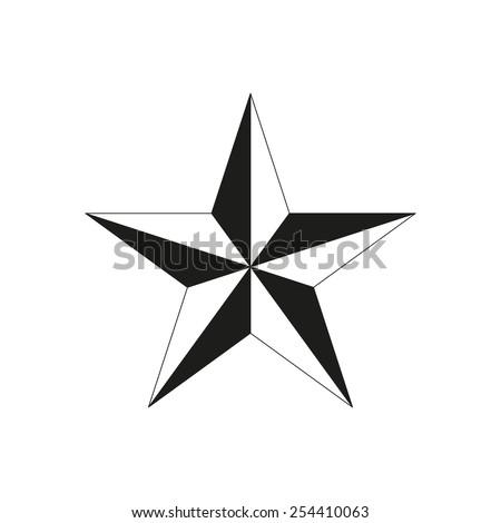 The star icon. Star symbol. Flat Vector illustration - stock vector