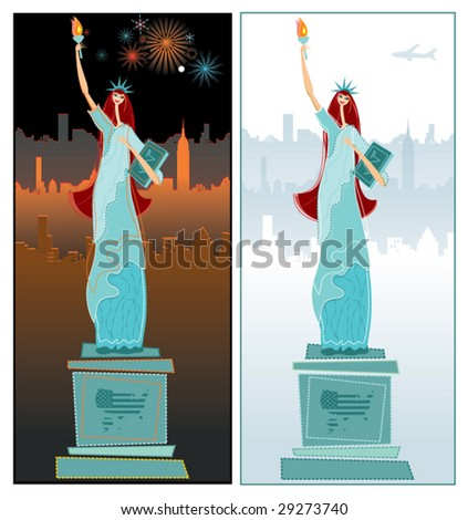 The Statue of Liberty. Day night. To see similar, please VISIT MY PORTFOLIO