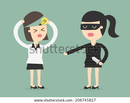 The Stealing of Ideas - stock vector