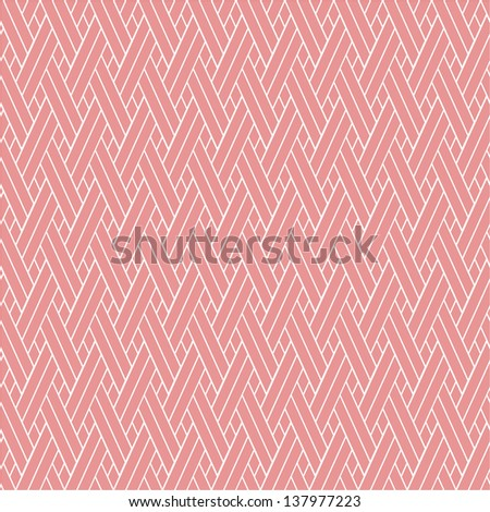 The stylish geometric pattern. Pink, white texture. Seamless vector background. - stock vector