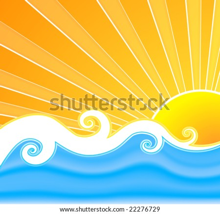 The Sun And The Sea - stock vector