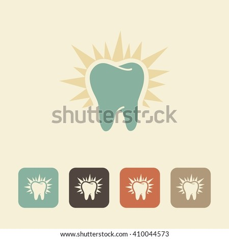 The symbol of healthy teeth. Shining silhouette - stock vector