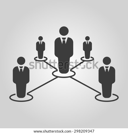 The teamwork icon. Leadership and connection, business teams symbol. Flat Vector illustration - stock vector