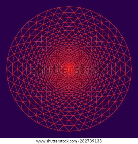 The Thousand Petal Lotus; an important sacred symbol in the Buddhism and Hinduism.  - stock vector