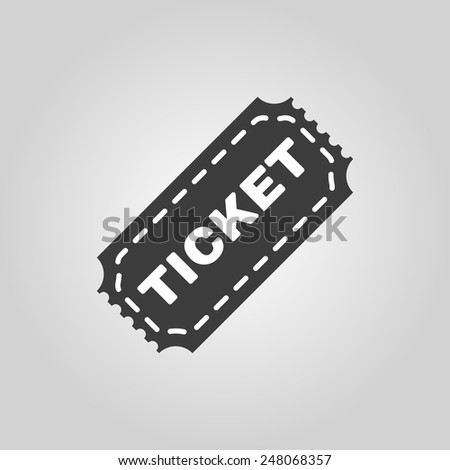 The ticket icon. Ticket symbol. Flat Vector illustration - stock vector