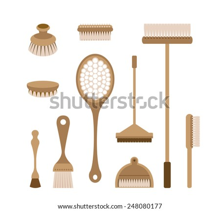 The tools of housecleaning - stock vector