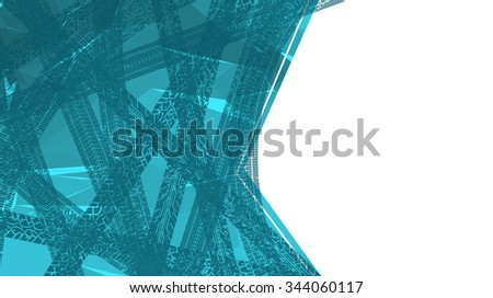 The tracks of tyres on the abstract background with copy space. Vector illustration. - stock vector