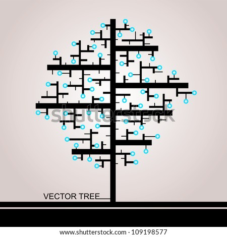 The Tree Of Rectangles - stock vector