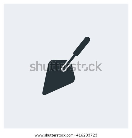 The Trowel Icon, Cement Tool Icon - stock vector