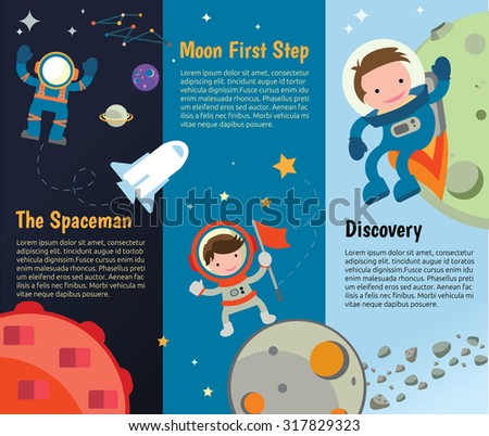 The universe kids,  Planets comparison, Sun and Moon , Galaxies Classification,Kids space learning,Full vector,  - stock vector