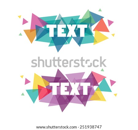 The Vector Illustration Modern Banner for Design and Creative Work - stock vector