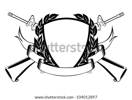 Guns Crossed Logo Crossed Submachine Gun