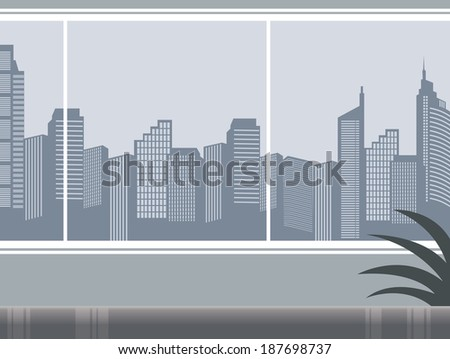 The view of inside in the office  - stock vector