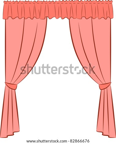 Velvet curtains living room - Stock Images Similar To Id 83439277 The Vintage Curtain Vector