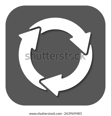 The waste processing icon. Bio symbol. Flat Vector illustration. Button - stock vector