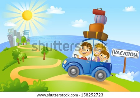 The way to holiday - stock vector