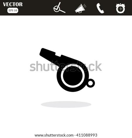 The whistle icon. Referee symbol. Whistle Icon. Whistle Icon Vector. Whistle Icon JPEG. Whistle Icon Object. Whistle Icon Picture. Whistle Icon Image. Whistle. Whistle Icon JPG. Whistle Icon EPS. - stock vector
