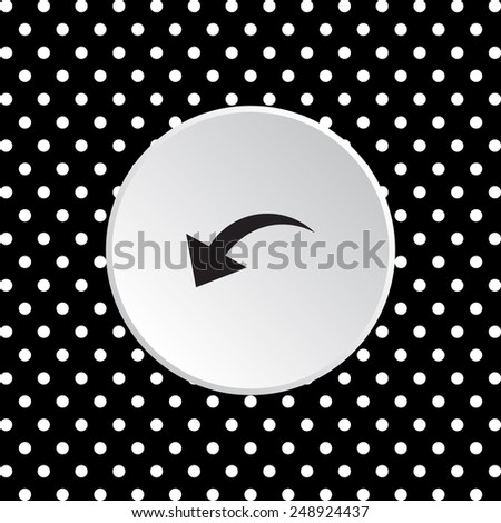 The white circles on a black background. arrow indicates the direction, vector illustration, EPS 10 - stock vector