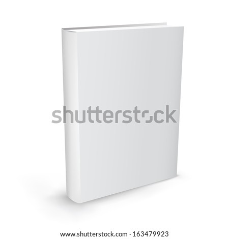 The white realistic book isolated on the white background - stock vector