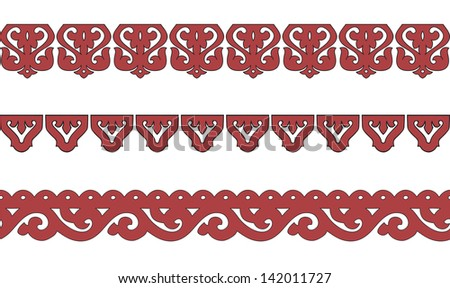 The wooden decorated for window. Vector illustration. - stock vector
