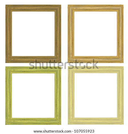 The wooden frame isolated on white background - stock vector