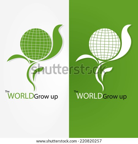 The World Grow Up - stock vector