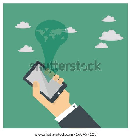 the world in your hand - stock vector