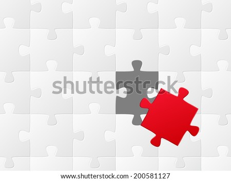 the wrong puzzle piece - stock vector